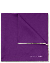 Pañuelo de bolsillo de seda morado oscuro de Turnbull & Asser