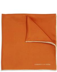 Pañuelo de bolsillo de seda naranja