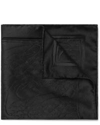 Pañuelo de bolsillo de seda negro de Berluti