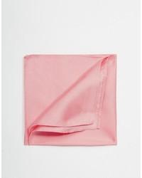 Pañuelo de bolsillo de seda rosado de Asos