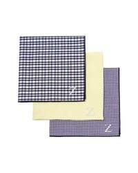 Pañuelo de bolsillo de tartán amarillo