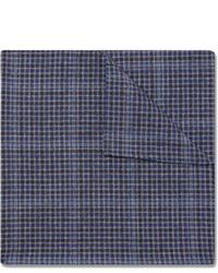 Pañuelo de bolsillo de tartán azul marino de Oliver Spencer