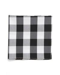 Pañuelo de bolsillo de tartán en negro y blanco