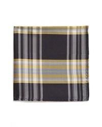 Pañuelo de bolsillo de tartán marrón