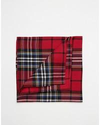 Pañuelo de bolsillo de tartán rojo de Asos