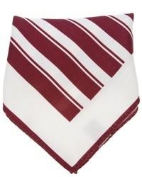 Pañuelo de bolsillo en blanco y rojo de Ermenegildo Zegna