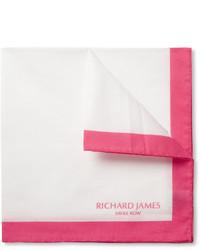 Pañuelo de bolsillo en blanco y rojo de Richard James