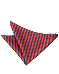 Pañuelo de bolsillo en rojo y azul marino