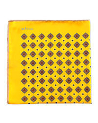 Pañuelo de bolsillo estampado amarillo