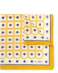 Pañuelo de bolsillo estampado amarillo de Boglioli