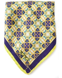 Pañuelo de bolsillo estampado amarillo de fe-fe