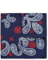 Pañuelo de bolsillo estampado azul marino de Alex Mill