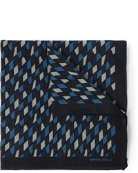 Pañuelo de bolsillo estampado azul marino de Boglioli