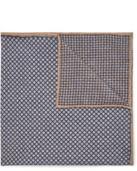 Pañuelo de bolsillo estampado azul marino de Brunello Cucinelli