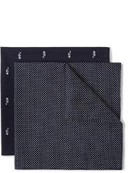 Pañuelo de bolsillo estampado azul marino de Derek Rose