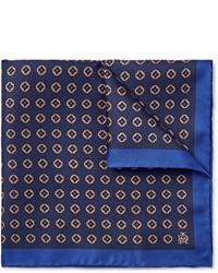 Pañuelo de bolsillo estampado azul marino de Dunhill