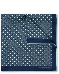 Pañuelo de bolsillo estampado azul marino de Kingsman