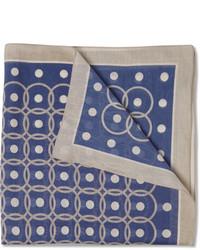 Pañuelo de bolsillo estampado azul de Boglioli