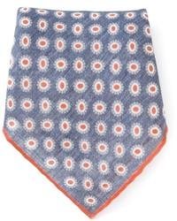 Pañuelo de bolsillo estampado azul de Brunello Cucinelli