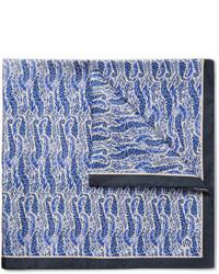 Pañuelo de bolsillo estampado azul de Dunhill