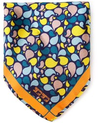 Pañuelo de bolsillo estampado azul de fe-fe