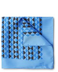 Pañuelo de bolsillo estampado azul de Piombo