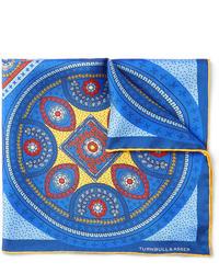 Pañuelo de bolsillo estampado azul de Turnbull & Asser