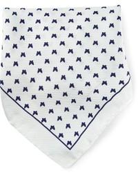 Pañuelo de bolsillo estampado blanco de fe-fe