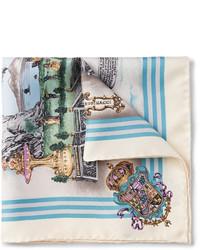 Pañuelo de bolsillo estampado blanco