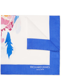 Pañuelo de bolsillo estampado blanco de Richard James