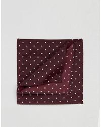 Pañuelo de bolsillo estampado burdeos de Asos