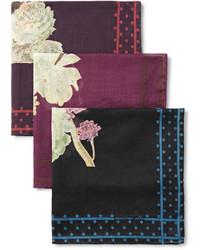 Pañuelo de bolsillo estampado burdeos de Massimo Alba
