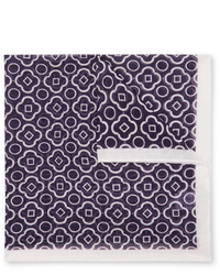 Pañuelo de bolsillo estampado en azul marino y blanco de Anderson & Sheppard