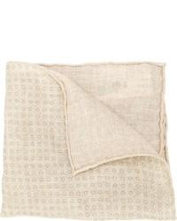 Pañuelo de bolsillo estampado en beige de Brunello Cucinelli