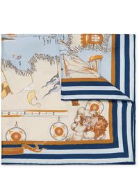 Pañuelo de bolsillo estampado en beige de Rubinacci
