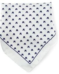 Pañuelo de bolsillo estampado en blanco y azul de fe-fe