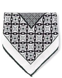 Pañuelo de bolsillo estampado en blanco y negro de Canali