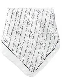 Pañuelo de bolsillo estampado en blanco y negro de fe-fe