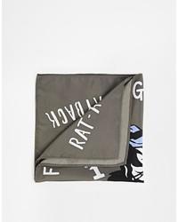 Pañuelo de bolsillo estampado en gris oscuro de Asos