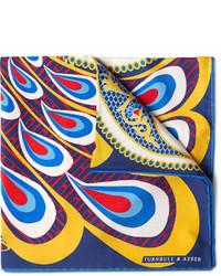 Pañuelo de bolsillo estampado en multicolor de Turnbull & Asser