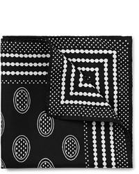 Pañuelo de bolsillo estampado en negro y blanco