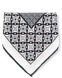 Pañuelo de bolsillo estampado en negro y blanco de Canali
