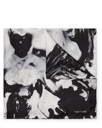 Pañuelo de bolsillo estampado en negro y blanco de Tom Ford
