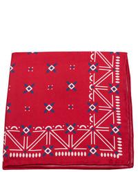 Pañuelo de bolsillo estampado en rojo y blanco