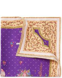 Pañuelo de bolsillo estampado en violeta
