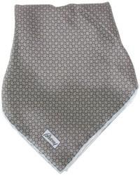 Pañuelo de bolsillo estampado gris de Brioni