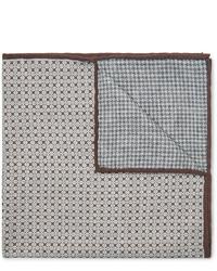 Pañuelo de bolsillo estampado gris de Brunello Cucinelli