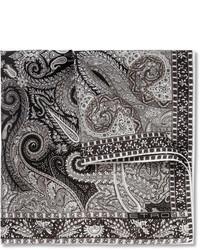 Pañuelo de bolsillo estampado gris de Etro