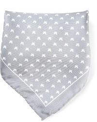 Pañuelo de bolsillo estampado gris de fe-fe