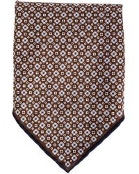 Pañuelo de Bolsillo Estampado Marrón Oscuro de Brunello Cucinelli
